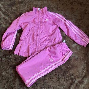 Girls 3T Purple/Pink Adidas wind tracksuit